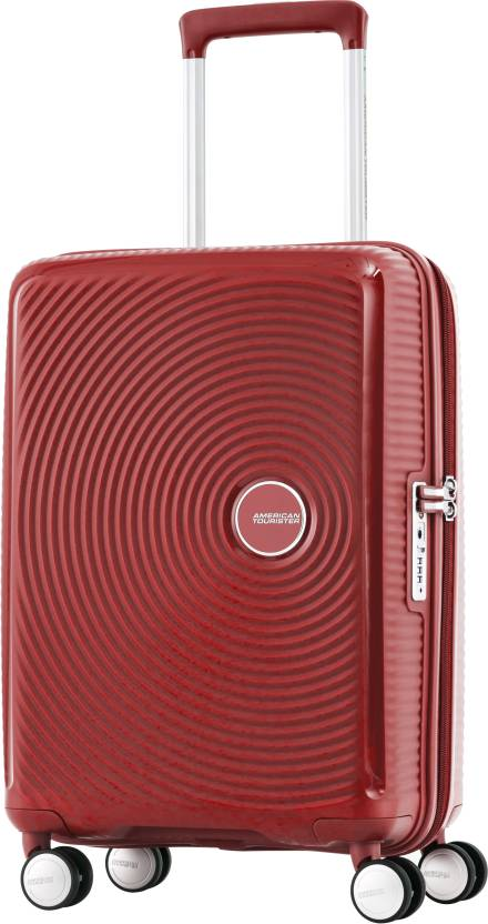 American Tourister Curio Spinner Cabin Luggage - 22 inch Red - Price ... 58d242a212