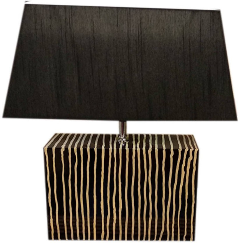 Dishan Kart Modern Style Home Office 19u201d H Wooden Table Lamp U2013 Black Gloss  Colour