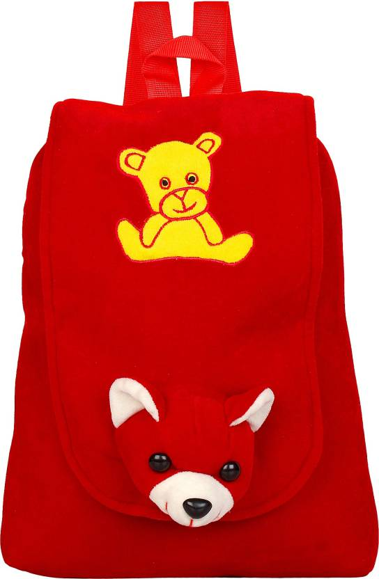 say basket Kids School Bag Designer School Bag Plush Bags Soft Toy Picnic  Backpack Red Teddy