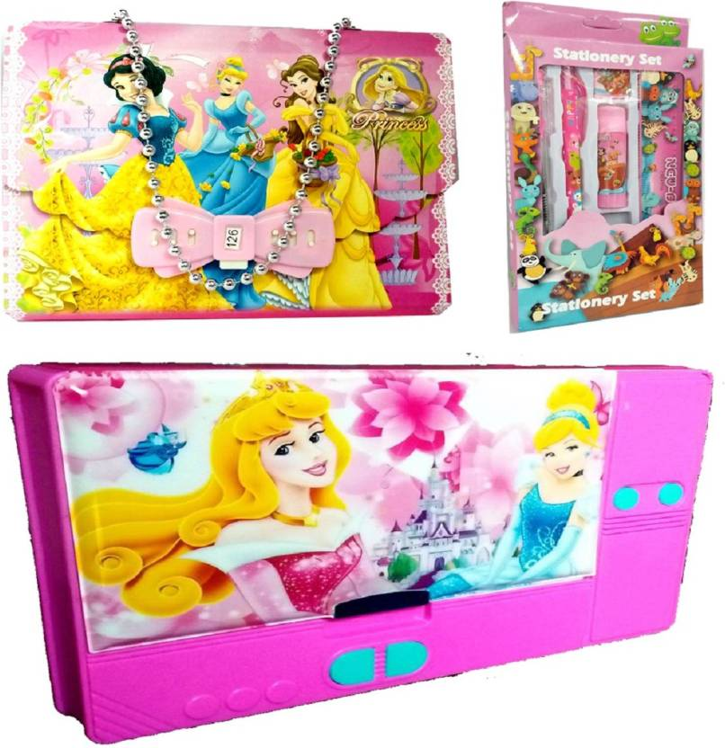 TECHNOCHITRA COMPLETE PRINCESS THEME GIFT COMBO BIRTHDAY RETURN Set Of 3