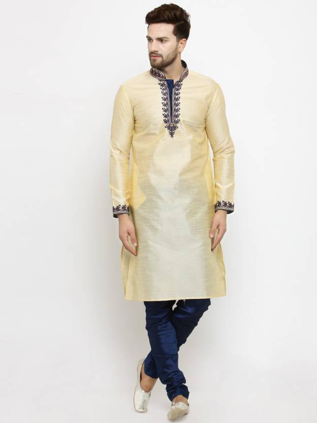 41ab2f8a08 Larwa Men Kurta and Churidar Set - Buy Beige, Dark Blue Larwa Men Kurta and  Churidar Set Online at Best Prices in India | Flipkart.com