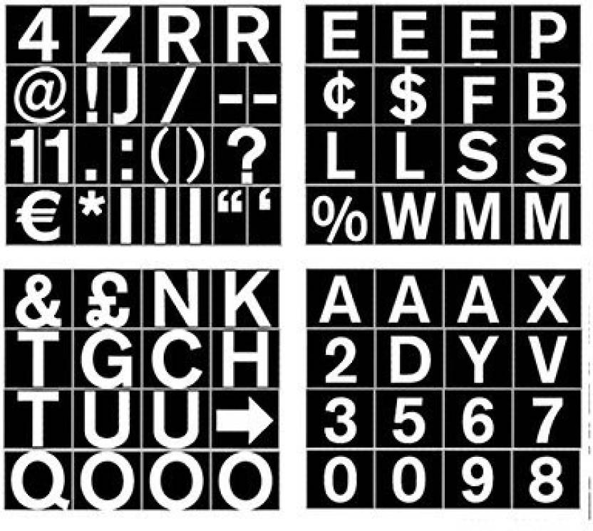 0d7e97792ee8 MasterVision Set Of Letters, Numbers And Symbols, Magnetic, 3/4