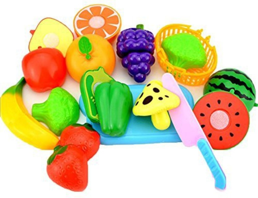Pretend Role Play Kitchen Fruit Vegetable Food Toy Cutting Set KidsToy Gifts S