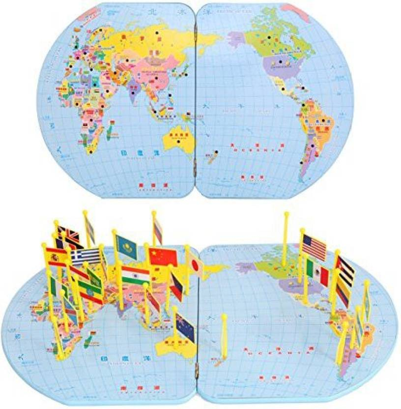 Generic children wooden educational puzzle world map insert national generic children wooden educational puzzle world map insert national flag toys gumiabroncs Image collections