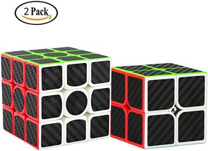c297f21d4e66 Dreampark 2 Pack Speed Cube 2X2 3X3 Carbon Fiber Sticker Magic Cube ...
