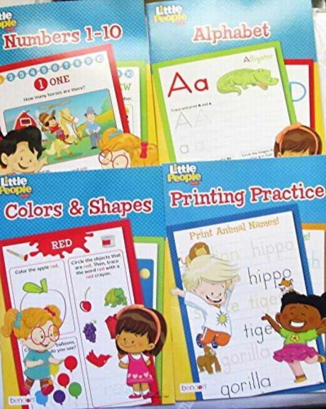 ab2d05fad9 Little People Alphabet, Colors & Shapes, Numbers 1-10, Printing ...