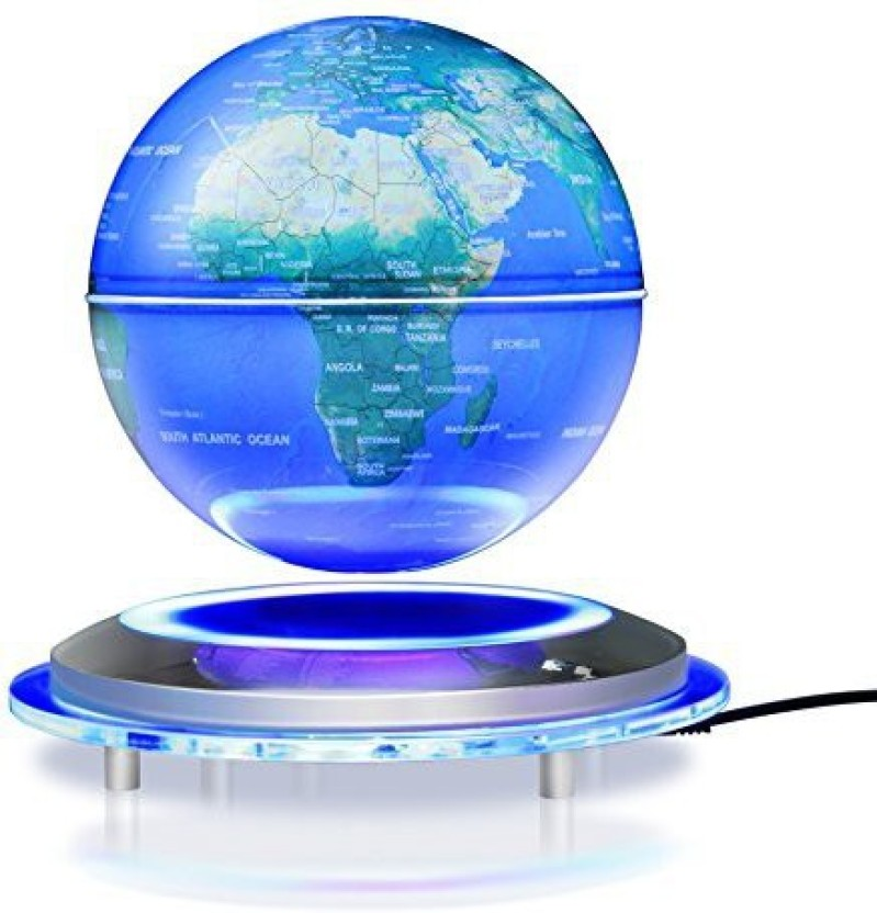 USA Stock 6 Inches Magnetic Floating Globe Anti Gravity Rotating World Map Levitating LED Illuminated Light Office Home Desktop Decor