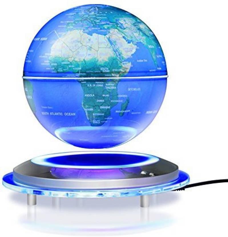 Zjchao Magnetic Floating Globe 6 Levitation Rotating Ball Led Illuminated World Map Earth