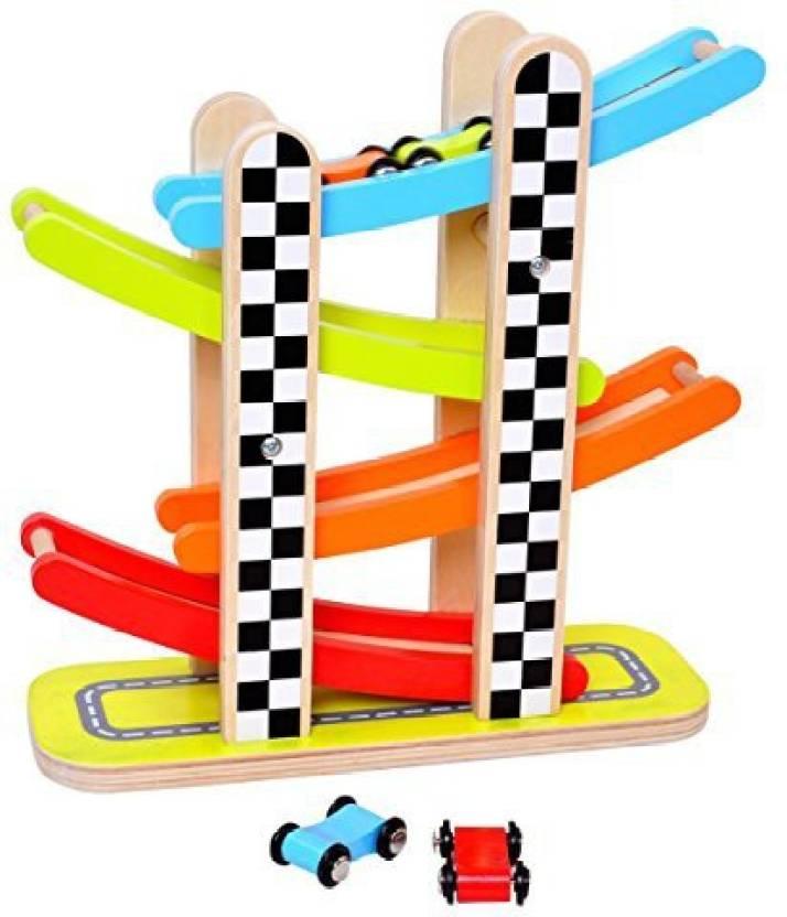 Pidoko Kids Zig Zag Gliding Cars Race Track Playset - 4