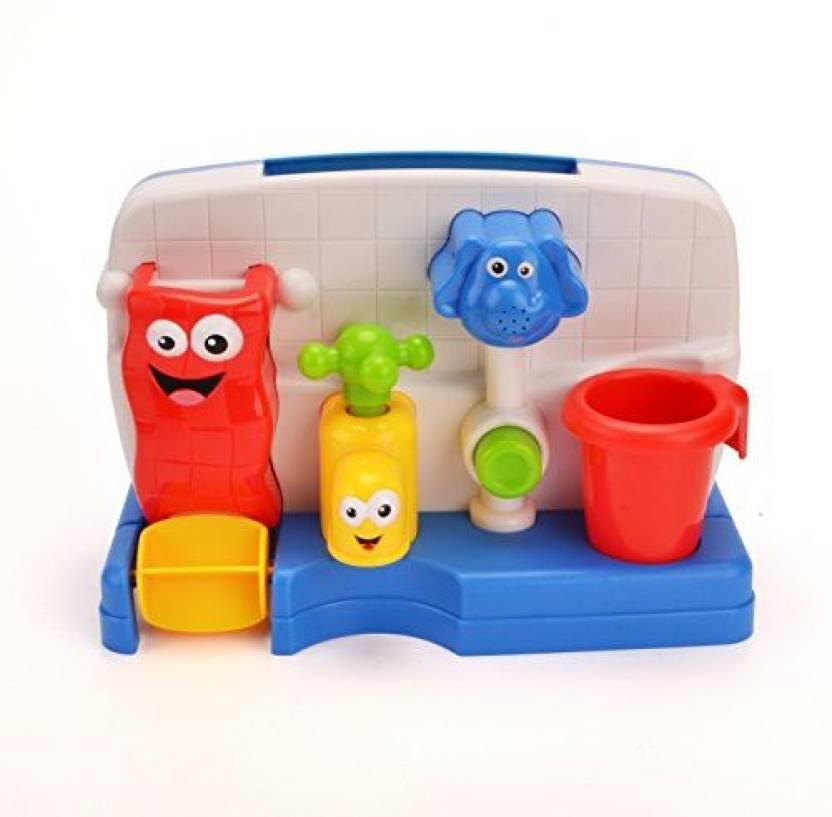 Wishtime Kids Colorful Cartoon Bathtub Toy 6+ Months Happy Shower ...