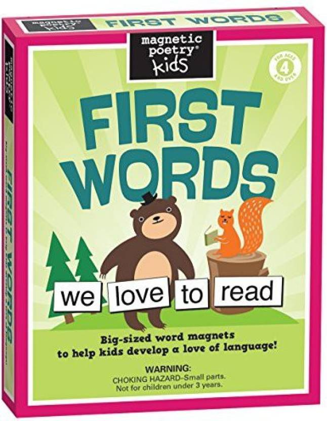 Magnetic Poetry Kids' First Words Price in India - Buy