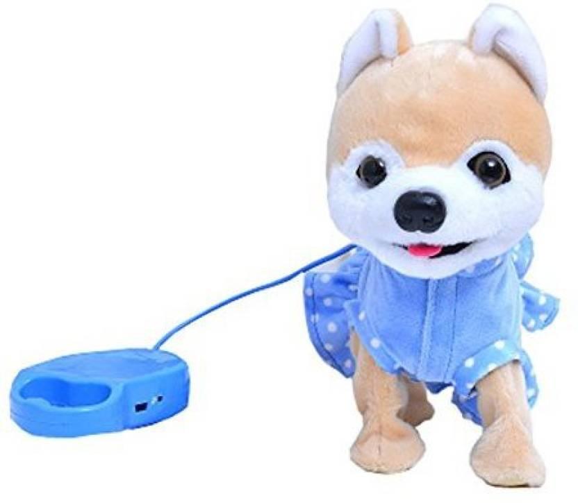 Sofasion Electric Toy Dog Pomeranian Child Simulation Plush Toy Dog
