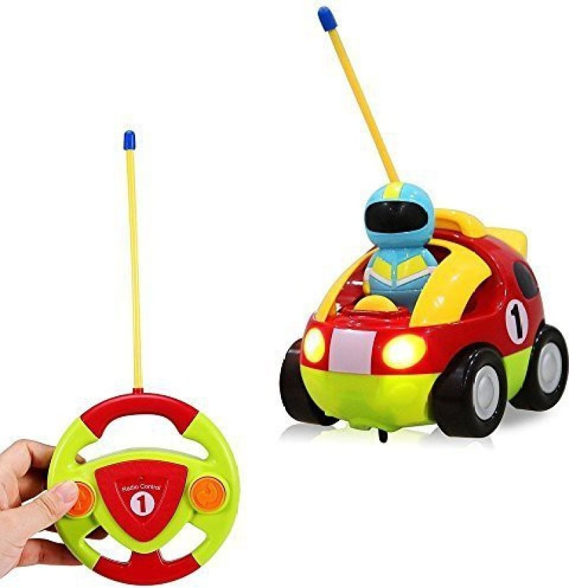 RC Cartoon Car Music and Lights Electric Radio Control Toy for Baby Kid Children