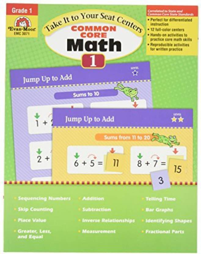 EVAN MOOR 3071 Common Core Math Centers, Grade 1, 0 5