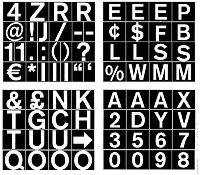 Mastervision Set Of Letters Numbers And Symbols Magnetic 1 Over