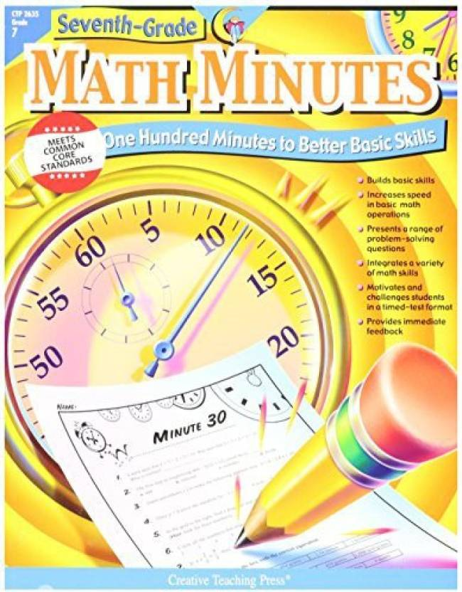 Generic Grade 7 Math Minutes Book Price in India - Buy