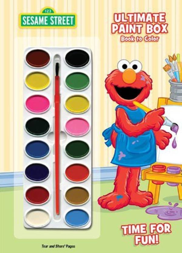 5f1d36750a6 Bendon Inc Publishing Sesame Street Time For Fun! Ultimate Paint Box Book  To Color (Multicolor)