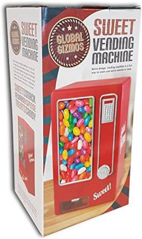 Global Gizmos Red Retro Mini Sweet Vending Machine Children  S