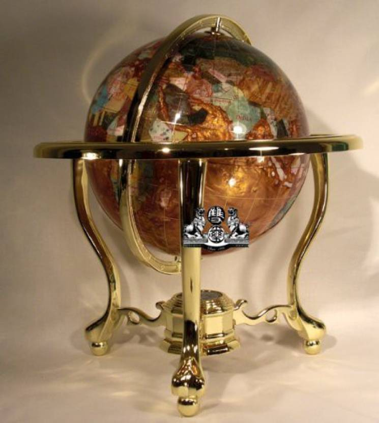Gemstone World Map.Generic 14 Tall Amber Pearl Gold Stand Gem Gemstone World Map Globe