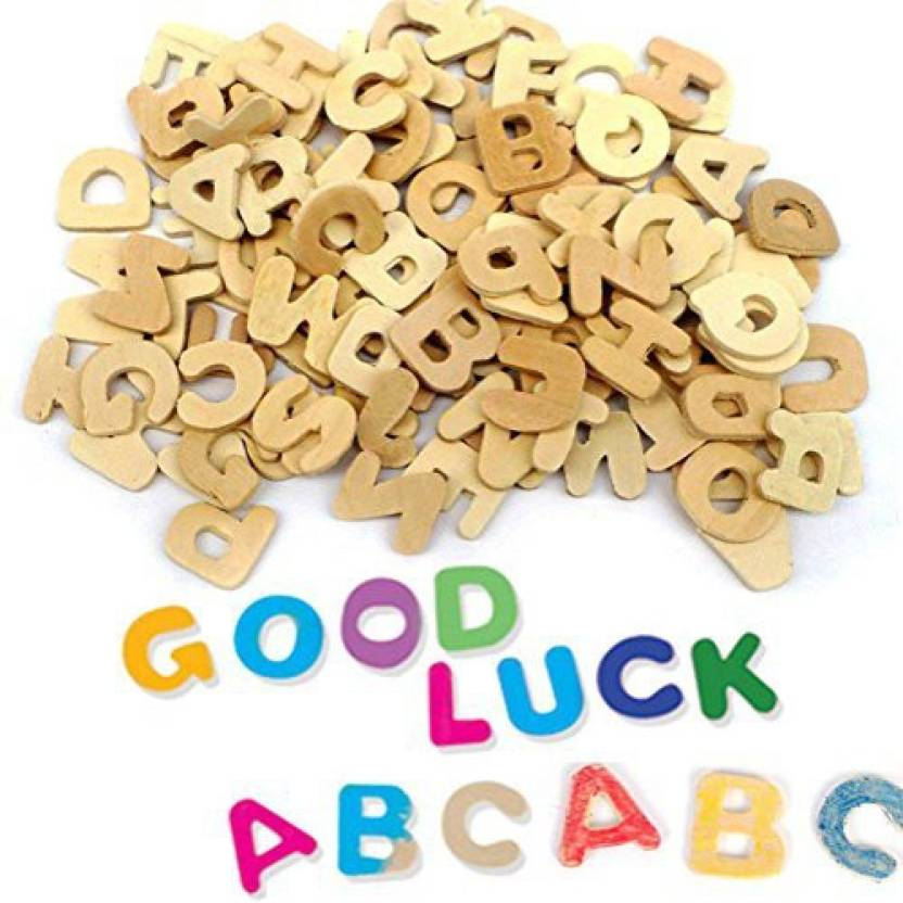Toymytoy Wooden Letters Diy Wooden Alphabet 104 Pieces