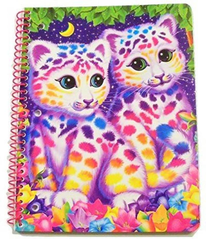 Generic Lisa Frank Wide Ruled Spiral Notebook Animal Beauty Colorful Kittens 8