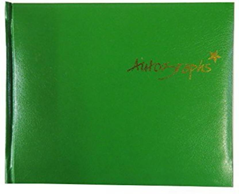 generic autograph book green 120 pages size 4 7 x 5 7 price