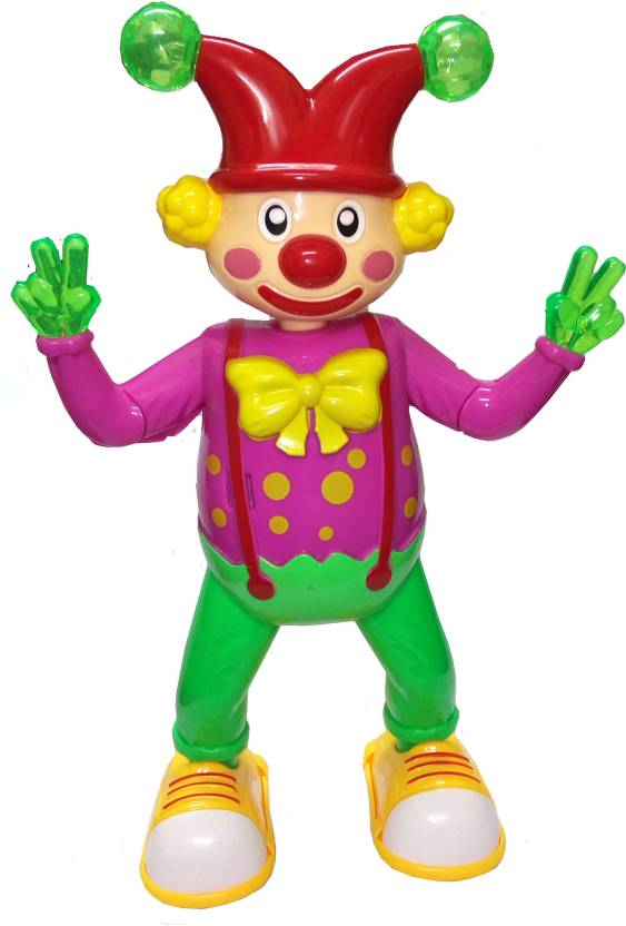 TALKING GANESHA Happy Dancing Clown with Music, Flashing