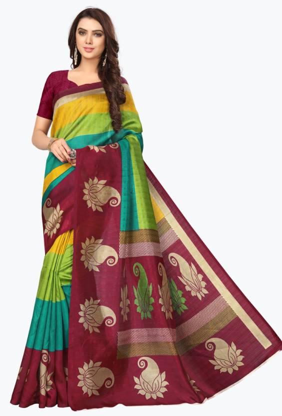baa750fe4 Buy HITESH ENTERPRISE Self Design Mysore Art Silk Maroon Sarees ...