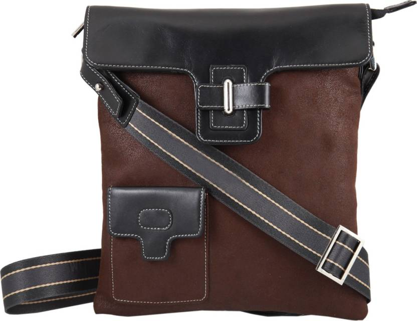 ee34e05b4c CLYDE Men   Women Casual Brown Genuine Leather Sling Bag Brown AND ...