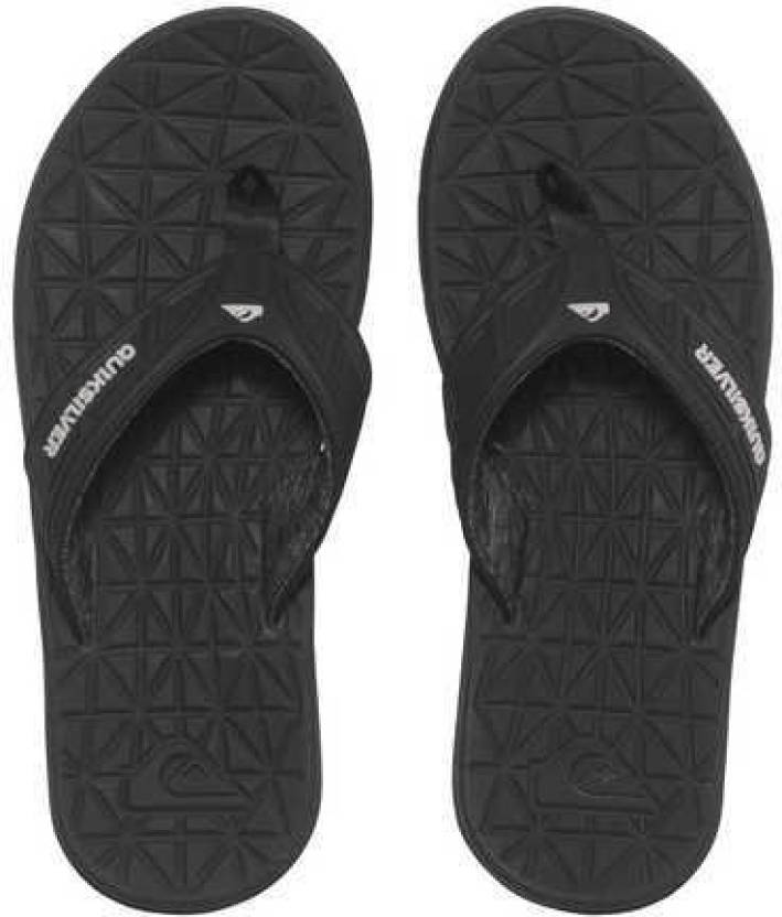 e61d3a60f700a Quiksilver FLUID Flip Flops - Buy BLACK GREY BLACK Color Quiksilver FLUID Flip  Flops Online at Best Price - Shop Online for Footwears in India