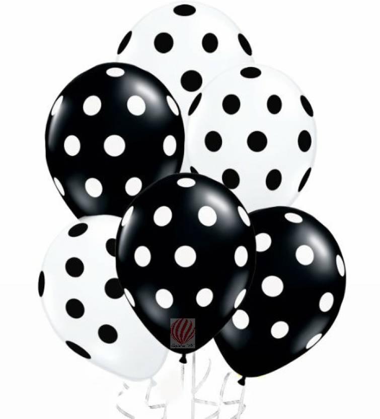 Flipkart Com Partyballoonshk Printed Black And White Polka Dot