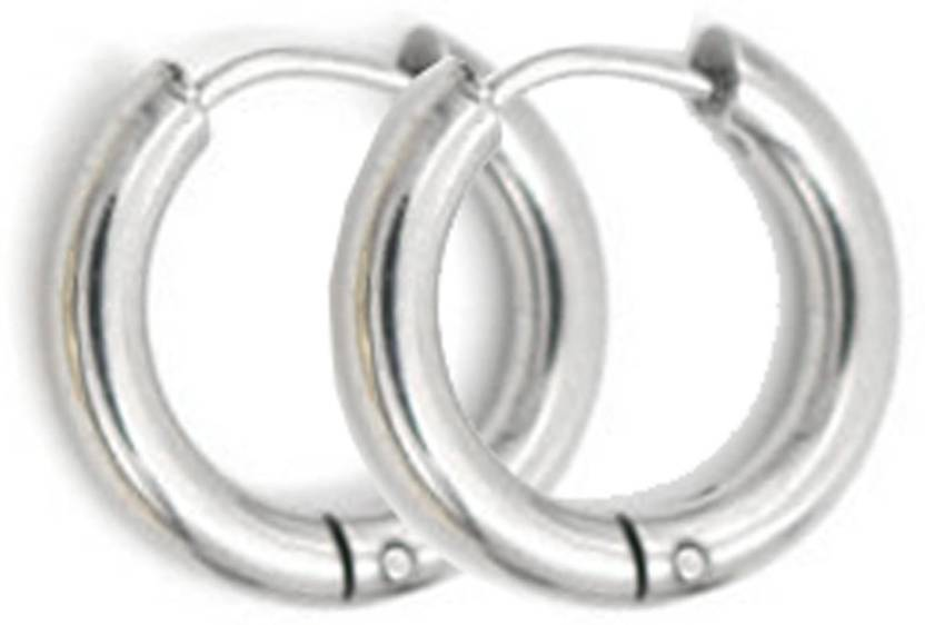 4327591f5 Flipkart.com - Buy Sullery Cute Small Circle Ear Jewelry (Dia 15mm) Stainless  Steel Huggie Earring Online at Best Prices in India