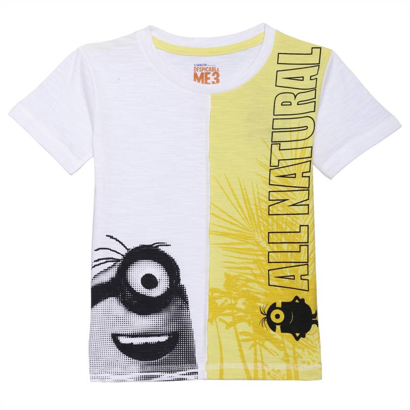 c7c5708e Minions Boy's Graphic Print Cotton T Shirt Price in India - Buy ...