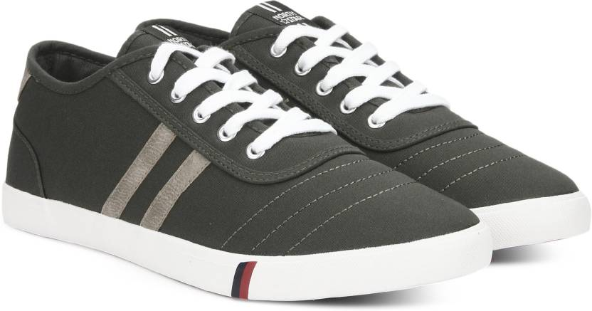 North Star by Bata ONORMAN Sneakers For Men (Olive)