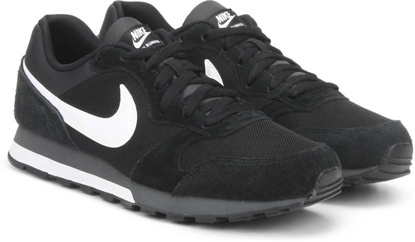 9a74885354 Nike MD RUNNER 2 Running Shoe For Men - Buy BLACK WHITE-ANTHRACITE ...