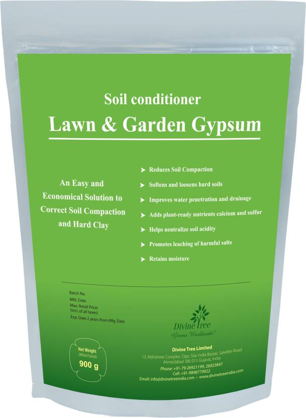 divine tree gypsum powder for plant calcium sulfate soil conditioner for lawn and garden soil manure - Garden Gypsum