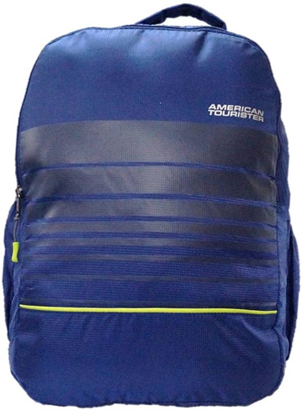 6b45061ac3 American Tourister LINK PLUS 02 NAVY BLUE 28 L Backpack Blue - Price ...
