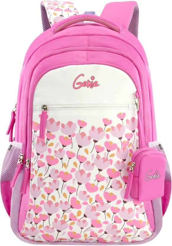 65e87ea25c4 Genie Blossom 19 Inch Pink School Bag