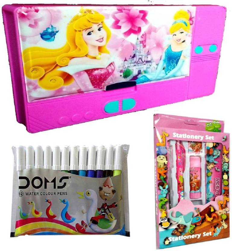 TECHNOCHITRA PRINCESS THEME COMPLETE STATIONERY BIRTHDAY GIFT SET Set Of 3