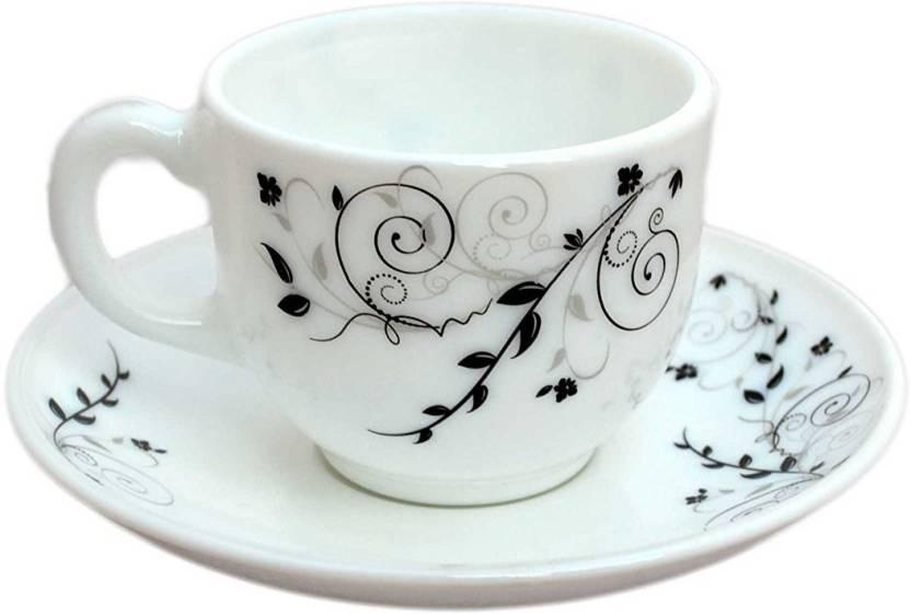 Cello Tea Coffee Cup Saucer 160 Ml Gl