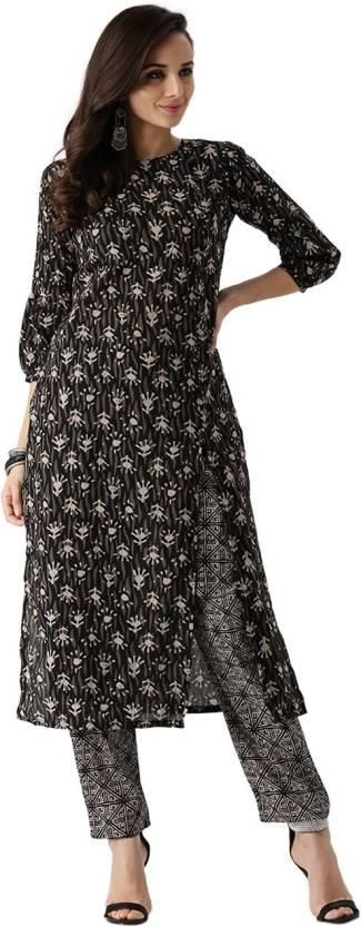 ba8178dee Libas Women s Kurta and Pant Set - Buy Black Libas Women s Kurta and ...