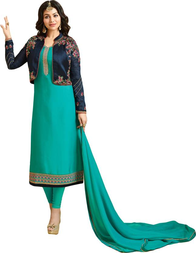 f63fc29784 justkartit Satin Embroidered Semi-stitched Salwar Suit Dupatta Material  Price in India - Buy justkartit Satin Embroidered Semi-stitched Salwar Suit  Dupatta ...