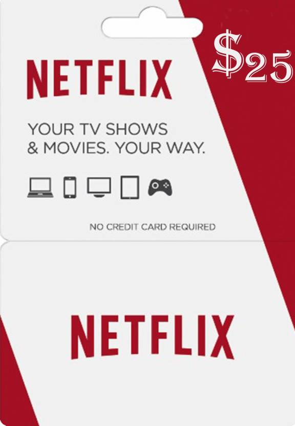 Netflix Gift Card NORTH AMERICA 25 USD for PC