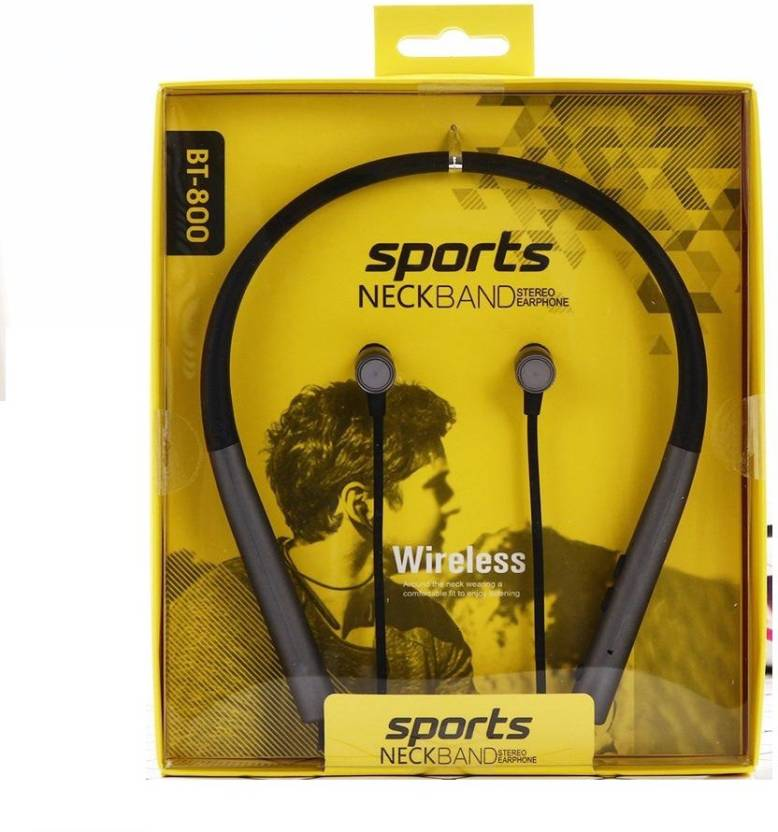 86ea80ff1dd CELESTECH BT800 Earphone Sports Neckband Stereo Headphone Wireless,  SweatProof With Mic and Magnetic Latch Bluetooth Headset with Mic (Black,  In the Ear)
