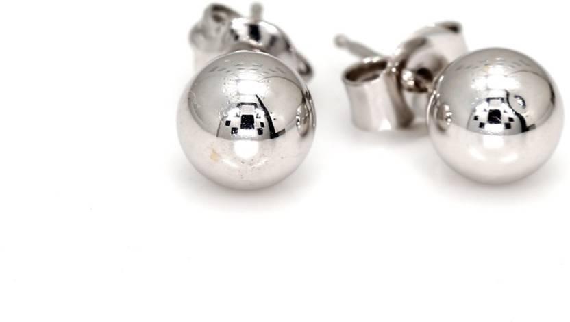 c7431658c His & Her Ball Stud Earring White Gold 9kt Stud Earring Price in India -  Buy His & Her Ball Stud Earring White Gold 9kt Stud Earring online at  Flipkart.com