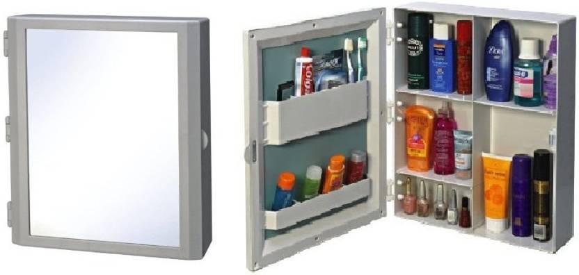 Branco Flora Bathroom Mirror Cabinet Brc 740 White Plastic