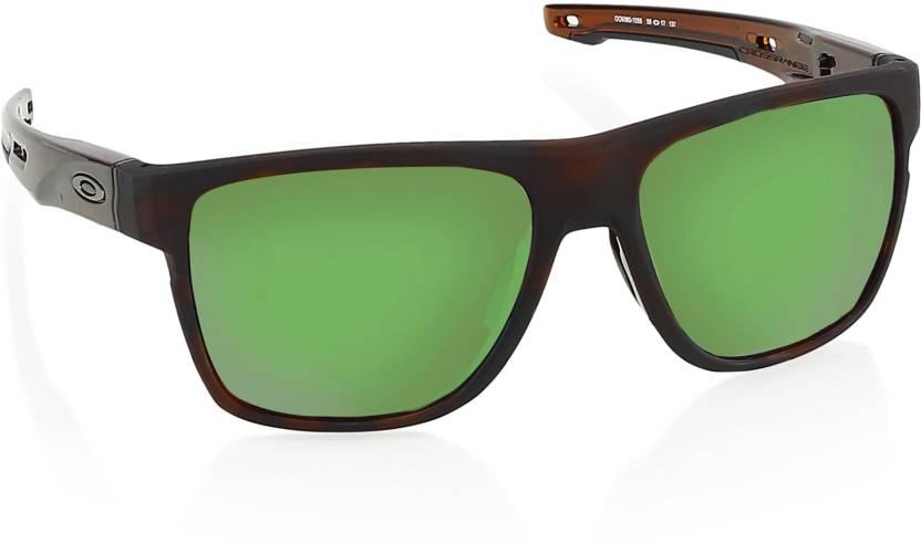 ee16f067912 Buy Oakley CROSSRANGE XL Wayfarer Sunglass Green For Men Online ...
