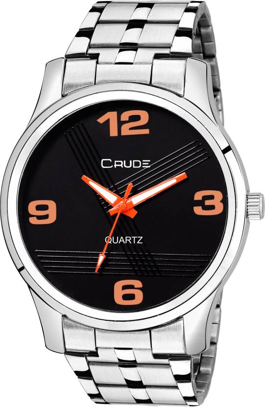 31e691f33 Crude rg2013 stainless steel case steel chain black dial metalic collection  Watch - For Men - Buy Crude rg2013 stainless steel case steel chain black  dial ...