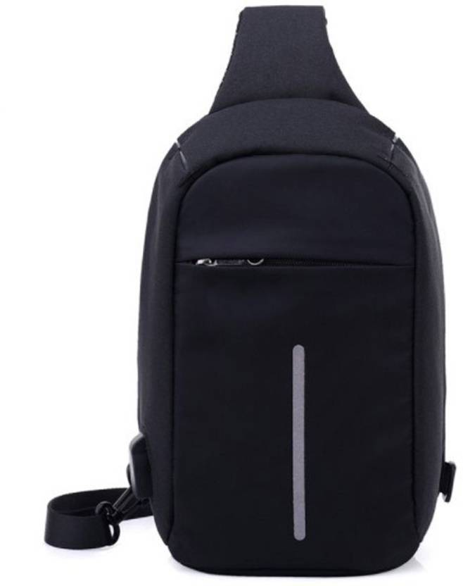 684bca85bd Bluebird ™ New Model Fashion Crossbody Backpack Laptop Bag with USB  charging Port (Black Color) 22 L Backpack (Black)