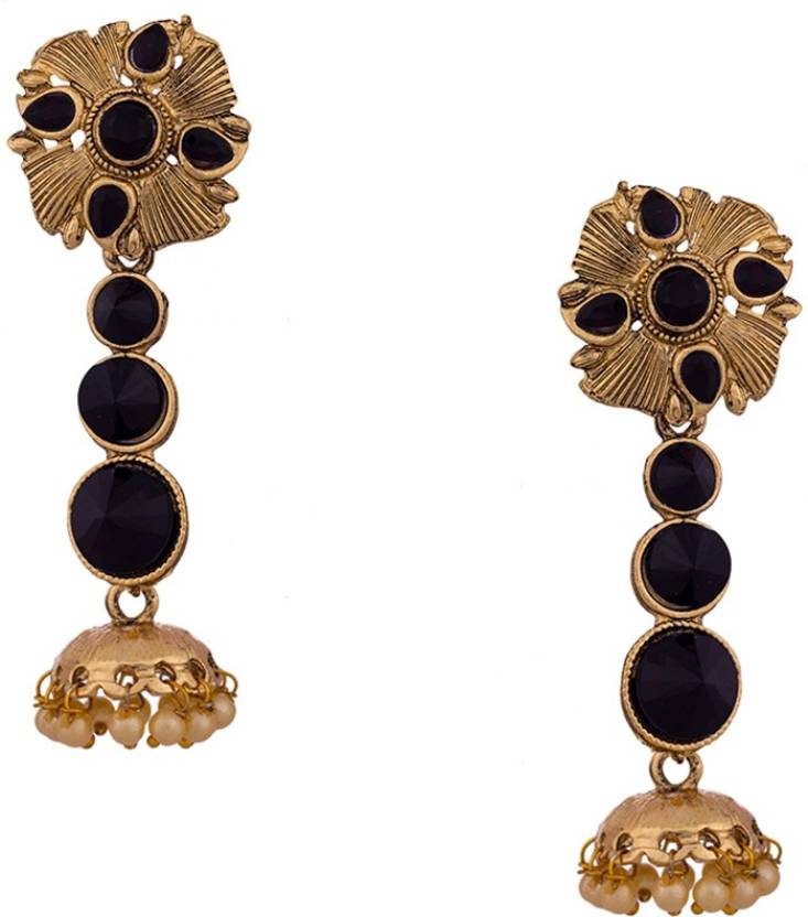 76fe70d6c0ffc Flipkart.com - Buy Jewelz Fashionable Gold Plated Hanging Earrings ...